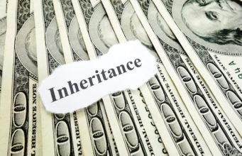 Inheritance paper note on hundred dollar bills