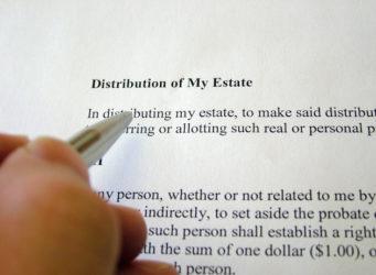 distribution of my estate